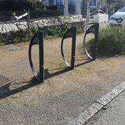Support vélo urbain - Support vélo en acier avec pictogramme