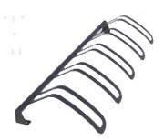 Support vélos simple - Hauteur : 25 cm - Longueur : 201 cm - Largeur : 63 cm