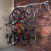 Support vélos suspendus - Dimensions (L x h x Prof) : 2000 x 350 x 545 mm
