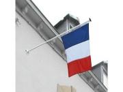Supports mâts de façade aluminium - Fixation inclinée à 45° - Pour 1 à 3 mâts cylindriques.