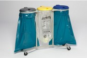 Supports sacs triple collecte - 3 sacs poubelles de 120 litres