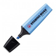 Surligneur bleu stabilo Boss pointe biseautée - Stabilo
