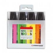 Surligneur pochette de 4 couleurs assorties stabilo Boss - Stabilo