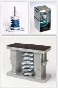 Suspension à ressort acier ELASTOPLOTS à Fréquence propre de 1 à 1,90 Hz - Support antivibratoire de gamme 2