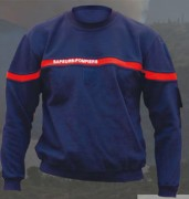 Sweat shirt col rond sapeurs pompiers