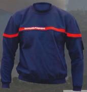 Sweat shirt col rond sapeurs pompiers - Taille : de S à XXXL