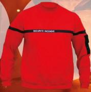 Sweat-shirt col rond sécurité incendie