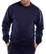 Sweat-shirt en polycoton - 65% polyester, 35% coton