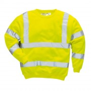 Sweatshirt signalisation polyester - Norme EN 471 classe 3:2 - 65% polyester - 35% coton - 300gr./m²