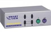 Switch KVM de bureau - Switch KVM de bureau en métal - 2 ports VGA/PS2 avec câbles