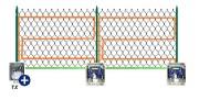 Système alarme à câbles détecteur - Clôture standard e h. 1,8 mt