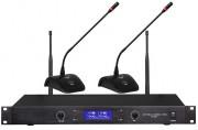 Système conférence sans fil 2/4 sorties audio - Récepteur HF et postes de conférence micros col de cygne