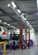 Système d'extraction des gaz d'échappement - Monté sur rails