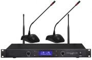 Système de conférence sans-fil - Système de 2/4 postes microphones sans-fil avec récepteur