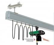 Système de levage monorail en profilé d'aluminium