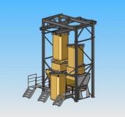 Système de vidage de big-bag - Permet de prendre des big-bags du sol vers la trémie de réception par un système de palonnier/palan