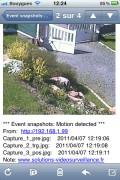 Système de vidéosurveillance par détection de mouvement - Envoi immédiatement d'un mail au propriétaire avec des captures d'image sur un mouvement détecté