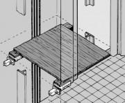 Système pour échafaudages d'ascenseurs - Accessoires adaptables pour des cabines d'ascenseur
