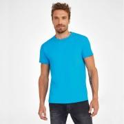 T-shirt fini avec une double surpiqûre - 190 g/m² homme  -  100% coton Jersey semi-peigné pré-lavé