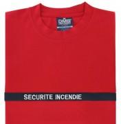 T-shirt incendie en microfibre - 100% microfibre - Taille: du S au 3XL