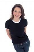 T-shirt personnalisé à bandes pour femme