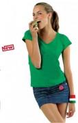 T-shirt personnalisé à col V - Tee-shirt personnalisable manches courtes femme jersey