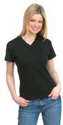 T-shirt personnalisé à col V pour femme