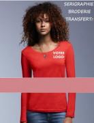 T Shirt personnalisé en coton - 100% coton ringspun prérétréci, 110 g/m²