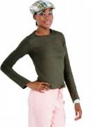 T-shirt personnalisé manches longues à coupe ajustée pour Femme - Tee-shirt personnalisable manches longues femme côte 1x1