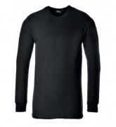 T-shirt thermique à manches longues - Matière :  coton/polyester - Taille : M-L-XL-2XL - Coloris : Noir