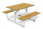 Table 4 places stratifiée 1400 x 1180 mm - Encombrement (mm) : 1400 x 1180