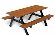 Table 4 places stratifiée avec dossier - Encombrement (mm) : 1800 x 1415