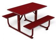 Table 4 places stratifiée pied métal - Encombrement (mm) : 1000 x 40