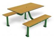 Table 8 places stratifiée avec dossier - Encombrement (mm) : 1415 x 1180