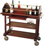 Table à alcool roulante - Dimensions : L 1200 x l 525 x H 1070 mm
