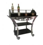 Table à alcools inox - Dimensions : L 1130 x l 525 x H 1070 mm