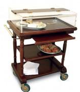 Table à desserts en bois roulante 825 x 525 mm - Dimensions (L x I x h) : Jusqu'à 1200 x  525 x 1220 mm