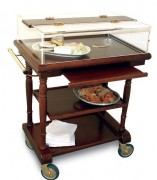 Table à desserts en bois roulante - Dimensions (L x l x H) : 825 x 525 x 1020 mm