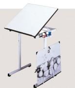Table à dessin réglable en hauteur - 2 Hauteur (mm) : 750 - 850