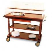 Table à fromages et desserts en bois - Dimensions (L x I x h) : Jusqu'à 1200 x 525 x 1020 mm
