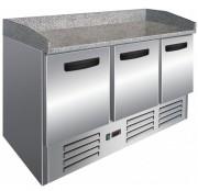 Table à pizza 3 portes - Réfrigérant R600a ECO - Température: +2° / +8°C