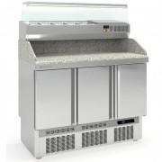 Table à pizza compacte - Fabrication espagnole -  Certifiée ISO 9001 et 14001-  Capacité (L) : 320 – 450