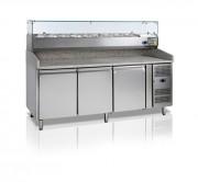 Table à pizza réfrigérée 580 Litres - Dimensions : (L x P x H ) : 2020 x 800 x 1400 mm.
