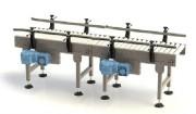 Table à rouleaux motorisés - Commandés avec entraînement par pignons/chaîne