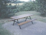 Table aire de repos - Dimension table (mm) : 2000 x 750