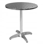 Table aluminium de terrasse - Dimension plateau : Diam. 60 cm