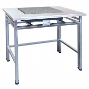 Table antivibratoire inoxydable - Construction mobile : acier inoxydable