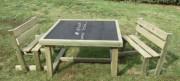 Table ardoise d'extérieur pour enfants - Plateau PVC expansé ép. 10 mm