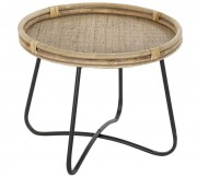 Table auxiliaire en fibres naturelles - Table auxiliaire de style exotique