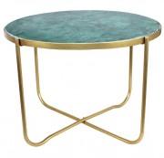 Table avec structure en tube d'acier - Dimensions : Ø70 × 49 cm